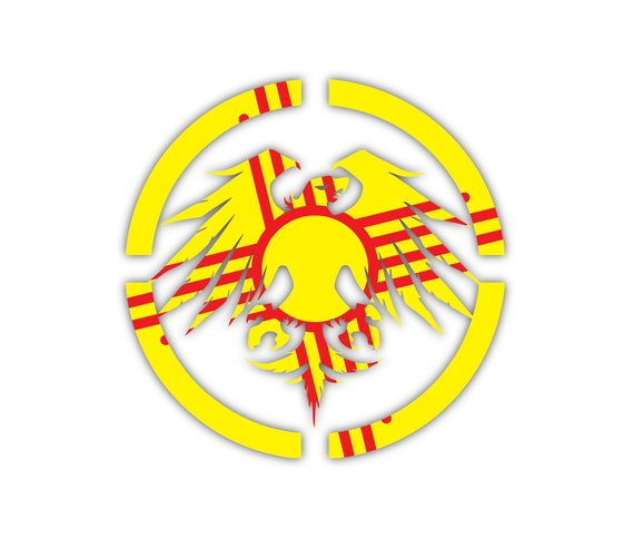 Simple ZIA Kokopelli New Mexico NM state flag emblem sign sticker decal