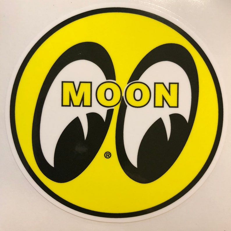 Vintage Moon Eyes Hot Rod Mooneyes Rat Rod Vinyl Decal Sticker