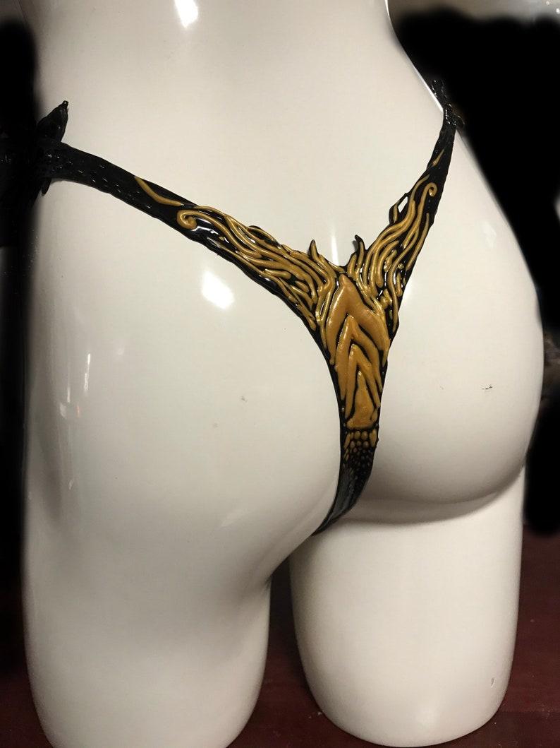 Latex Dragon Thong