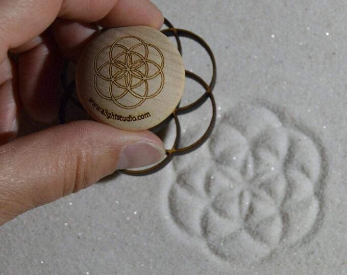 Sand Stamp, Seed of Life Design, Zen Garden Stamp