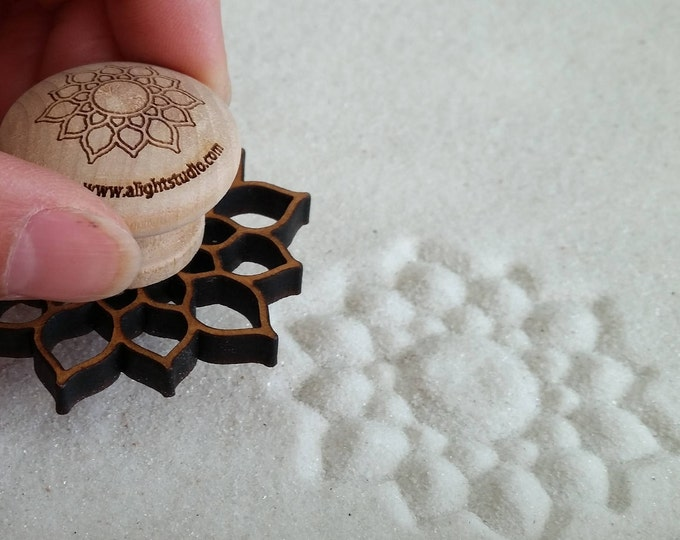 Sand Stamp, Sunshine Lotus Design, Zen Garden Stamp