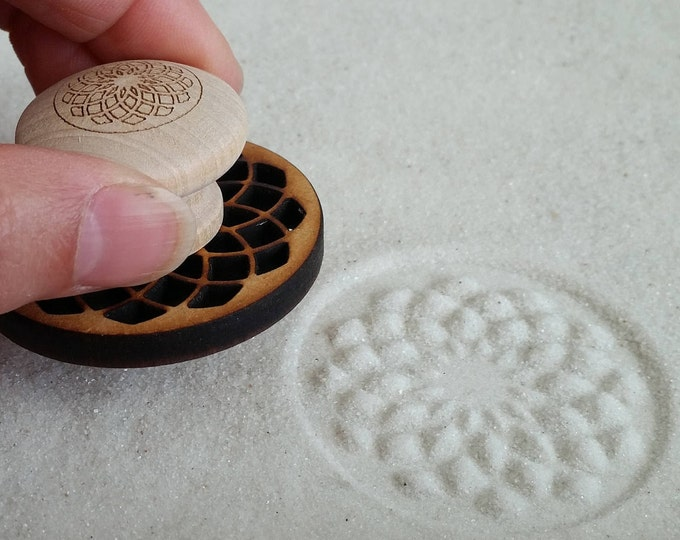 Sand Stamp, Tube Torus Design, Zen Garden Stamp