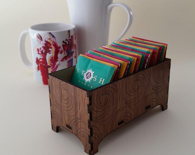 Decorative Tea Box, Triple Fibonacci Design
