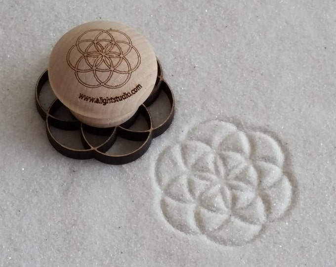 MINI Sand Stamp, Seed of Life Design, Zen Garden Stamp