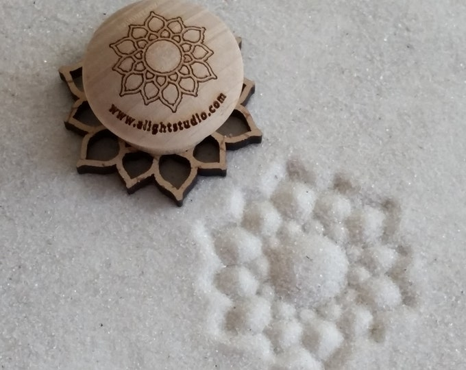 MINI Sand Stamp, Sunshine Lotus Design, Zen Garden Stamp