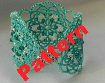 Tatting lace bracelet PDF pattern  tatting jewellery PDF  lace jewelry tatted lace frivolite