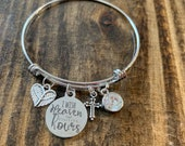 I wish Heaven had visiting Hours Bangle Bracelet- Kids or Adult Size
