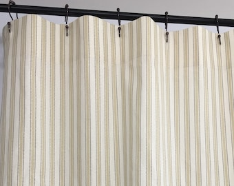 Stripe Shower Curtain Curtains Fabric 72 X 84 108 Extra Wide Long Custom