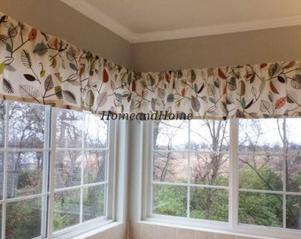 Valance 50 X 16 Covington Carson Fiesta Mardi Gras Orange Aqua Brown Grey  Ivory Curtain Valance Topper Window Valance Kitchen Valances