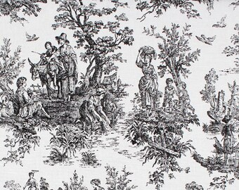 Toile Shower Curtain Custom Colonial Black White 54 X 78 72 84 108 Long Extra Wide