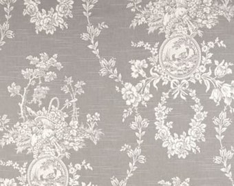 Toile Shower Curtain Custom Gray 72 X 84 108 Long Extra Wide Curtains