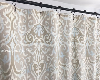 Ikat Shower Curtain Long Extra Wide 72 X 84 108 Custom Fabric