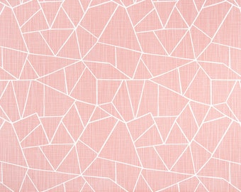 Blush Pink Shower Curtain Light White Cut Glass Slub Linen Look Long Extra Wide Custom