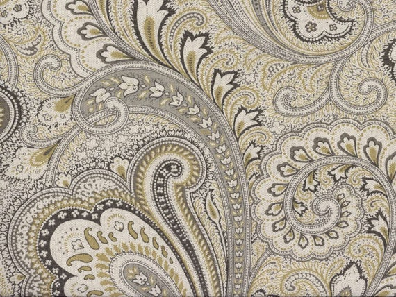 Shower Curtain Paisley Fabric 72 X 84 108 Extra Wide Long Custom