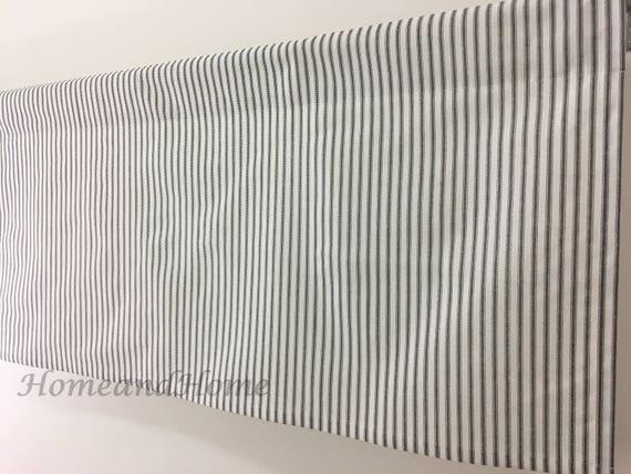 Classic Ticking Stripe Cafe Curtains Black White Stripe