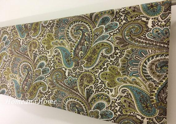 Beau Valance / 2 Panels Cafe Curtains / Paisley Valance / Kitchen | Etsy