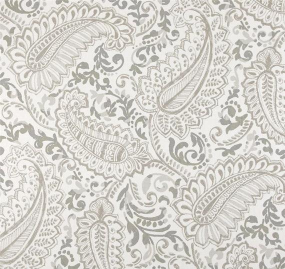 Paisley Shower Curtain Ecru Taupe Off White 72 X 84 108 Custom