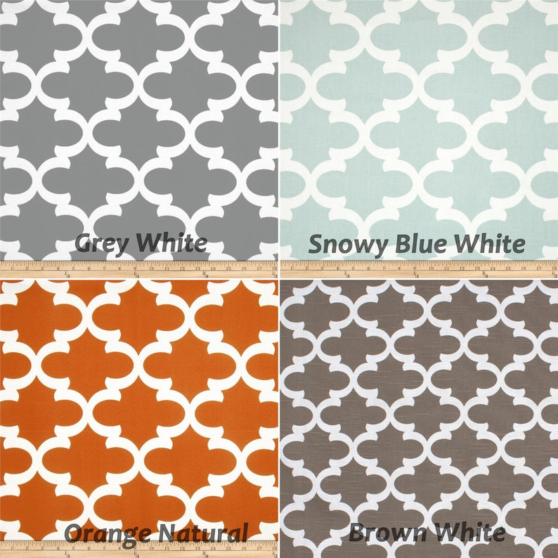 Valance 50 x 16 designer fabric Fynn Grey Snowy Blue Orange Natural Curtain Valance Topper Window Valance Window treatment Kitchen valance