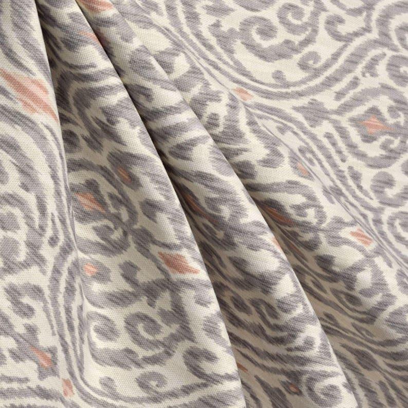 Ikat Shower Curtain Cream Shades Of Blush Gray Extra Long