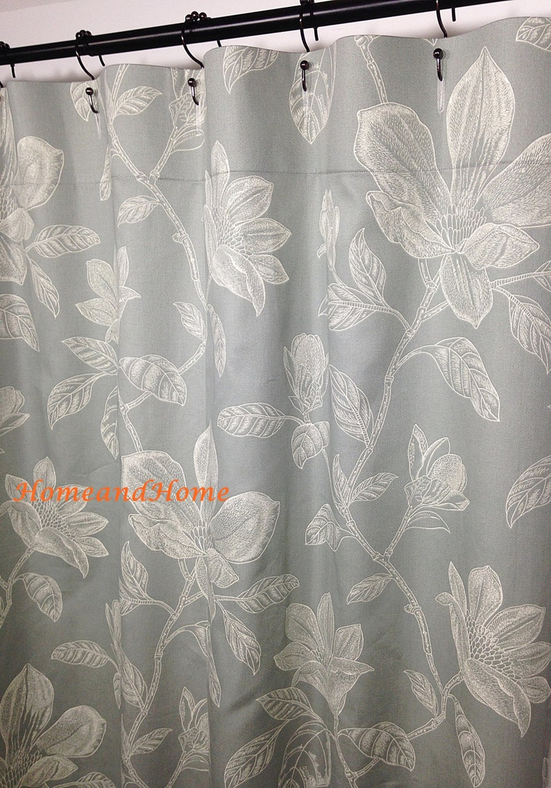 Shower Curtain Grey Fabric Extra