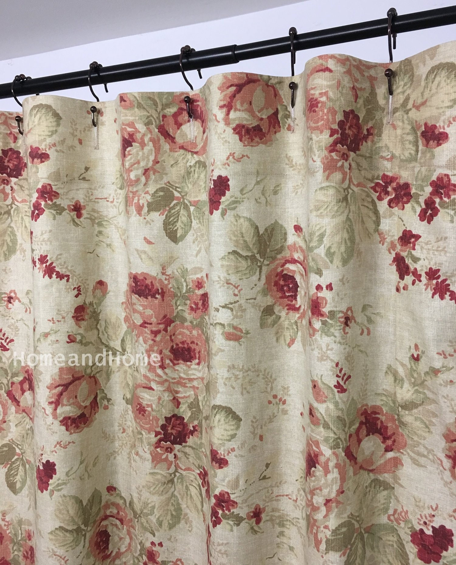Many Designs Also Available in Extra Wide Extra Long Fabric Shower Curtains