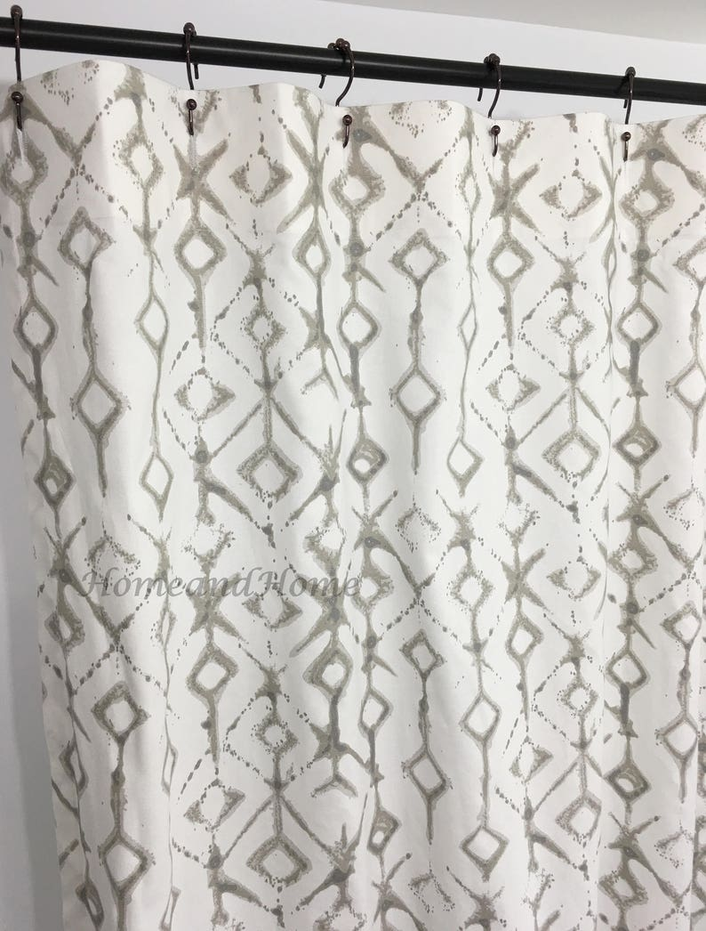 Ecru Shower Curtain Custom White Extra