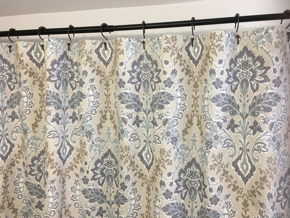 Shower Curtain Brussels Amethyst Long Extra