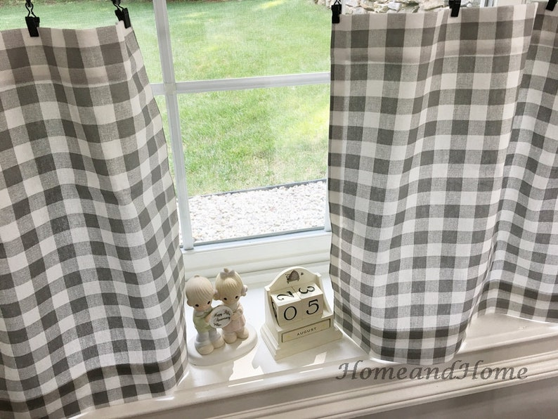 Image result for small plaid curtain