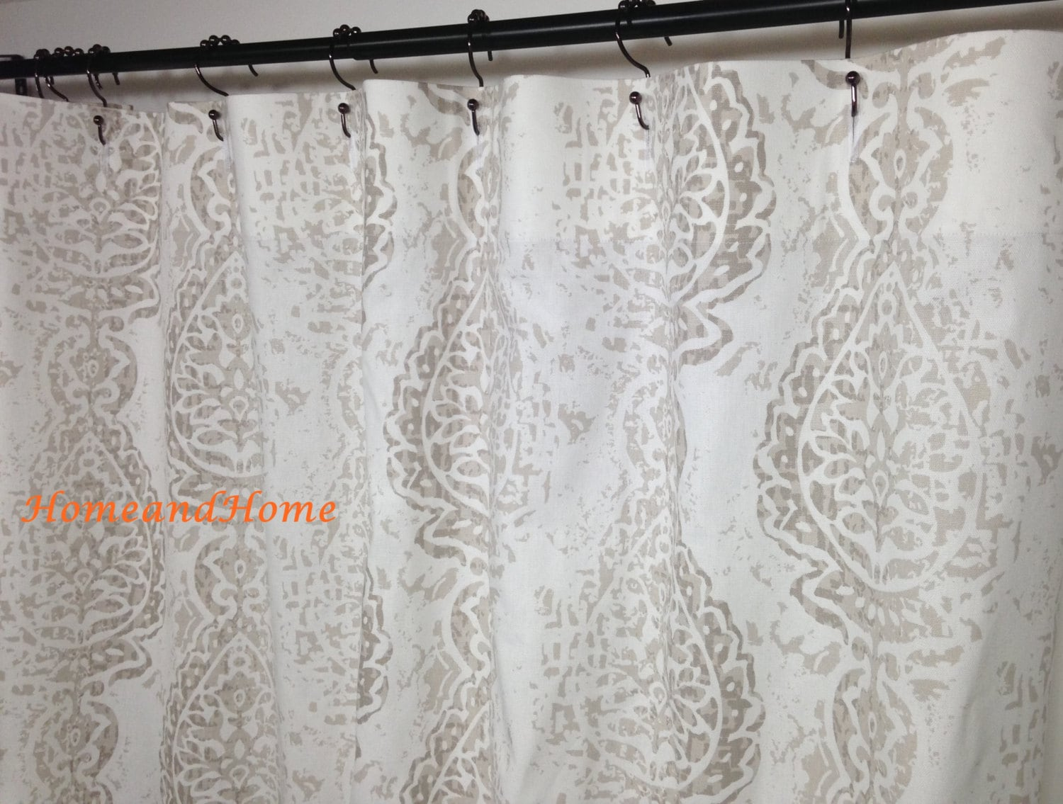 shower curtain fabric shower curtain ecru white 72 x 84 96 108 etsy. Black Bedroom Furniture Sets. Home Design Ideas