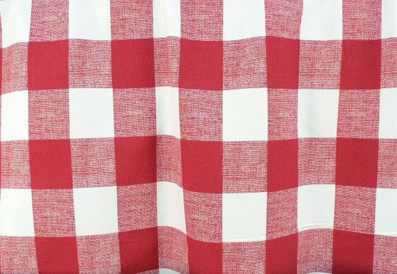 Shower Curtain Check Buffalo Primary Red White 72 X 84 Long 108 Extra Wide