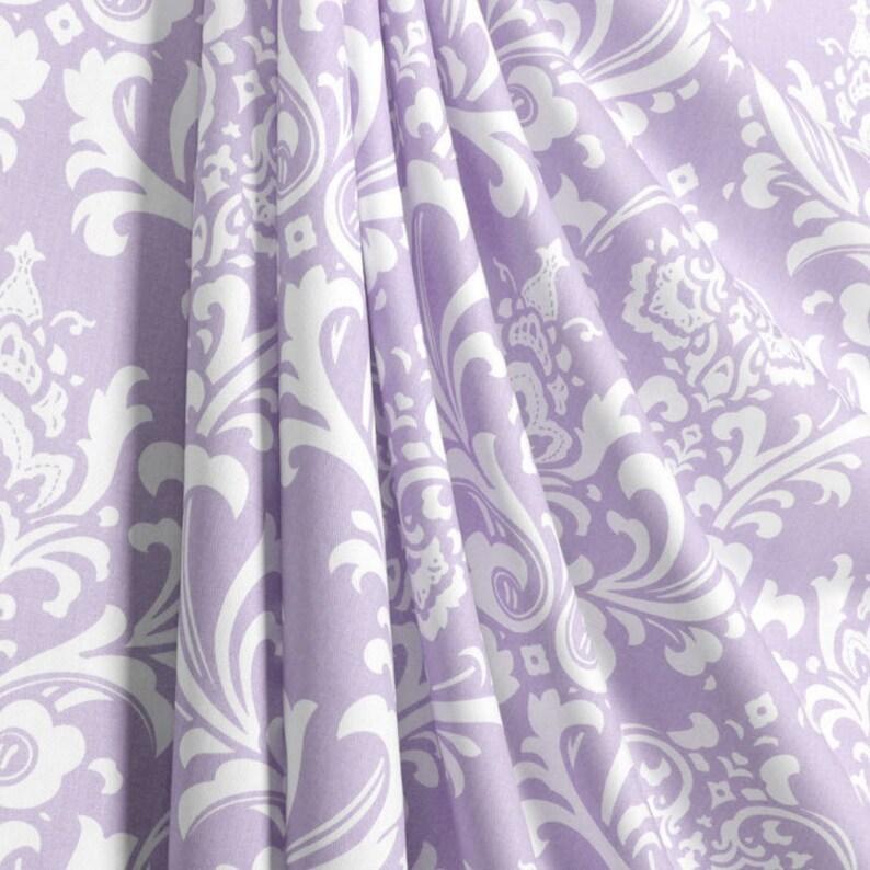 Fabric Shower Curtain Custom Ozborne Twill Wisteria Light