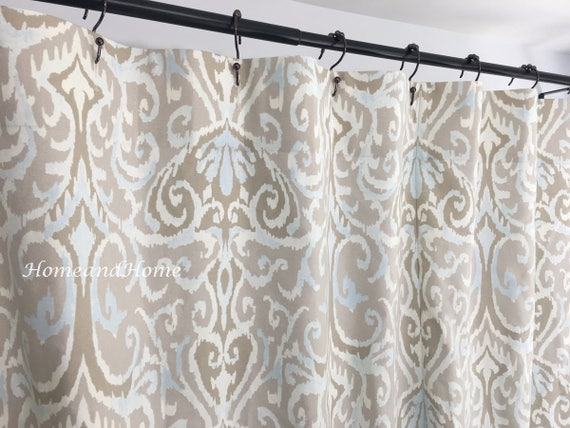 Ikat Shower Curtain Long Extra Wide