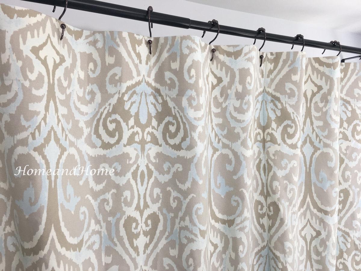 Ikat Shower Curtain Long Shower Curtain Extra Wide Shower Curtain 72 X 84 108 Custom Shower Curtain Fabric Shower Curtain Extra Long