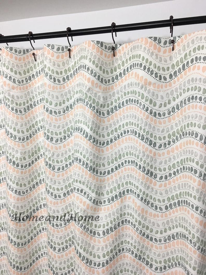 Retro Shower Curtain Fabric Custom