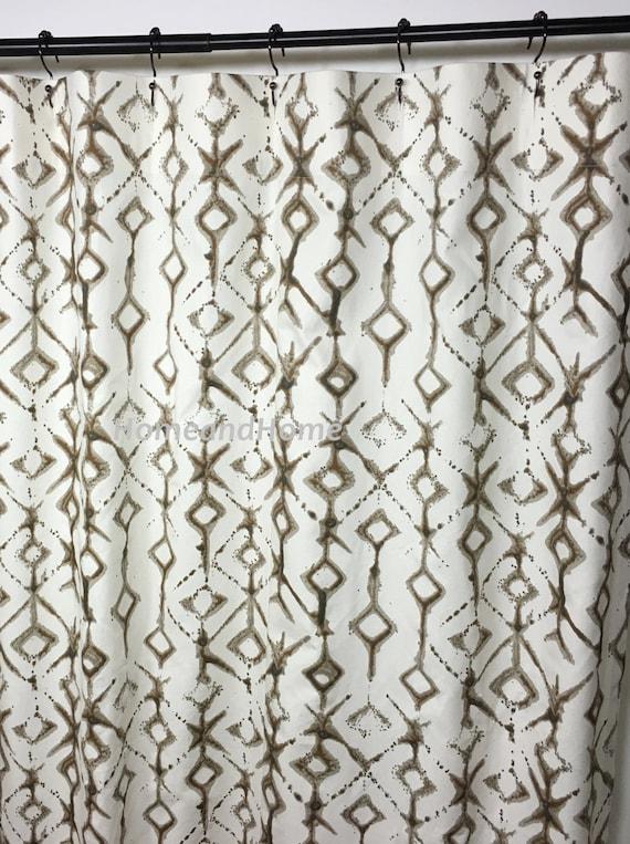 Custom Fabric Shower Curtain Tribal, Wide Shower Curtain