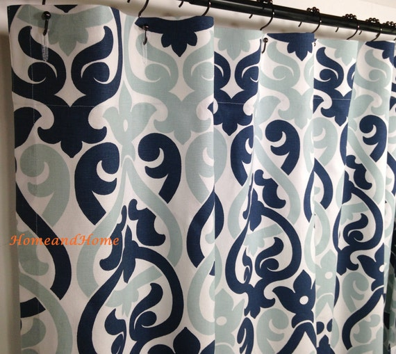 Shower Curtain 54 X 78 Long Shower Curtain Extra Wide Shower Etsy