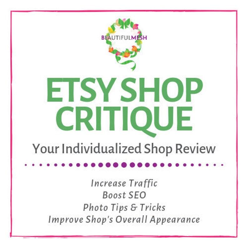 Etsy Shop Critique Your Shop Reviewed Etsy SEO Help Etsy image 0