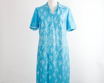 Vintage Dress // 60s// Light Blue // Standing Grain // Short Sleeves //