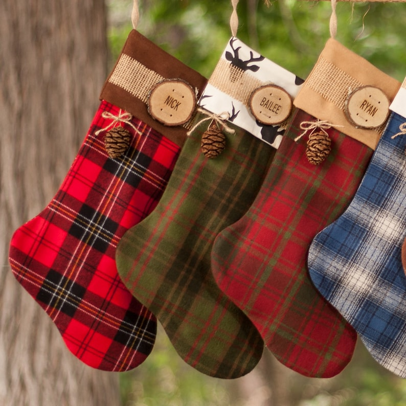 a3d02140973 2019 Stockings Christmas Personalized Country Christmas Wood