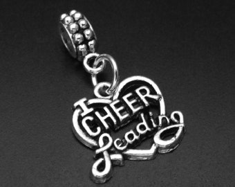303a351ef Cheerleading Charm fits European and Brand Bracelets - Cheerleading Dangle  Charm - Cheerleading Dangling Charm - Cheerleader Charm Bracelet