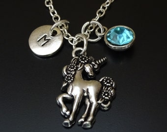 Unicorn Necklace, Unicorn Jewelry, Unicorn Charm, Unicorn Pendant, Fairytale Necklace, Fairytale Pendant, Fairytale Charm, Unicorn Gift