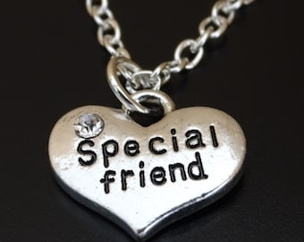 Special Friend Necklace, Special Friend Charm, Special Friend Pendant, Special Friend Jewelry, Friend Necklace, BFF Necklace, Best Friends