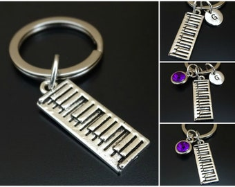 Grand Piano Key Ring Keyring Music Gift Present Fob Pianist Player