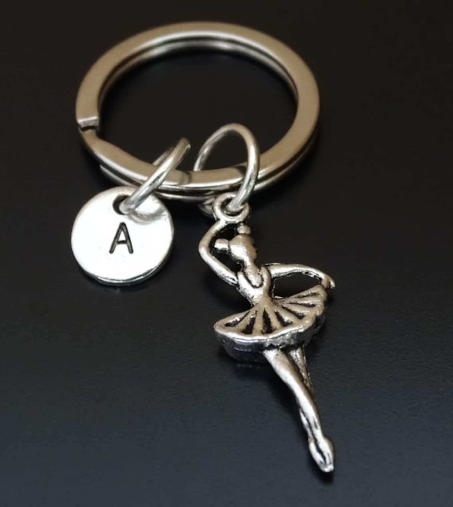 ballerina keychain, ballerina key chain, ballerina charm, ballerina pendant, ballerina jewelry, ballerina gift, ballet keychain,