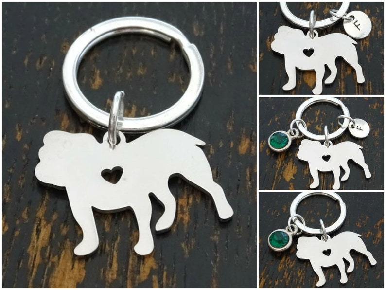 Bulldog Keychain Bulldog Charm Bulldog Key Chain Bulldog Dad Keychain Bulldog Pendant Bulldog Lover Gift Bulldog Mom Keychain
