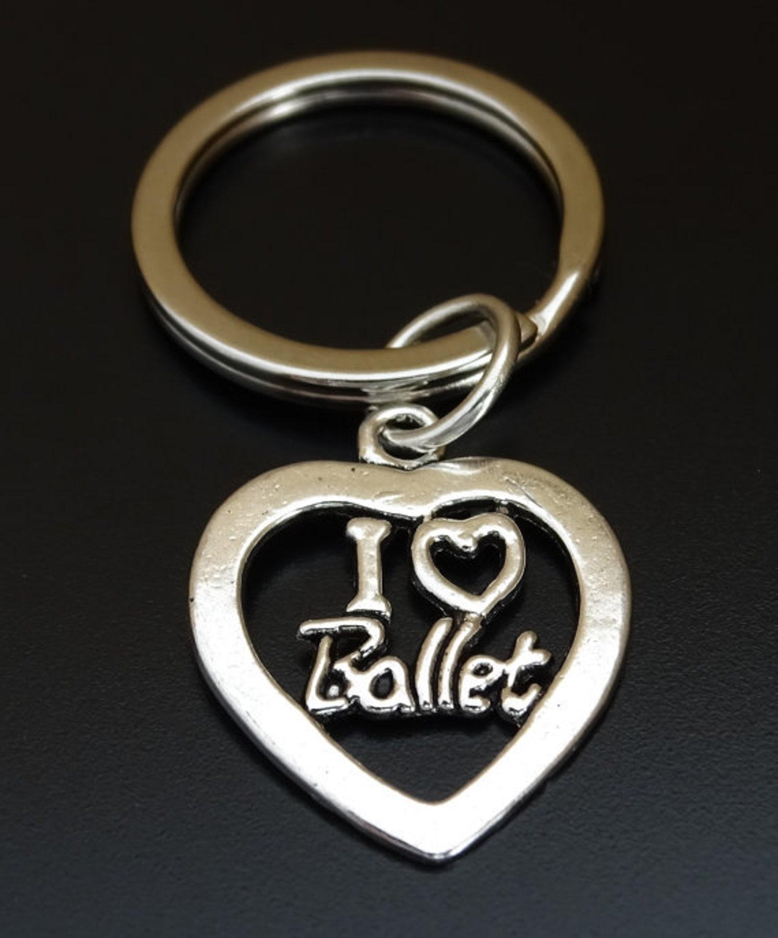 ballerina keychain, custom keychain, custom key ring, tutu keychain, ballerina charm, ballerina jewelry, tutu charms, ballet sho
