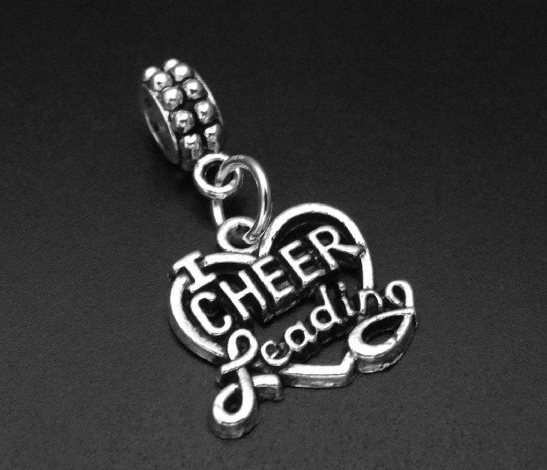 Cheerleader Charm Bracelet Cheerleading Dangling Charm Cheerleading Dangle Charm Cheerleading Charm fits European and Brand Bracelets