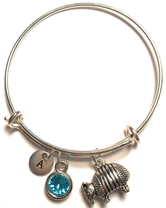 Armadillo Bracelet Armadillo Charm Silver Armadillo Bangle Armadillo Jewelry Armadillo Bracelet for Women Girl Armadillo Pendant
