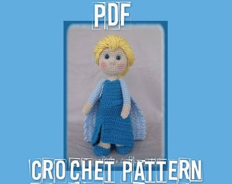 Elsa, La Reine des Neiges ( Snow Queen Crochet pattern )