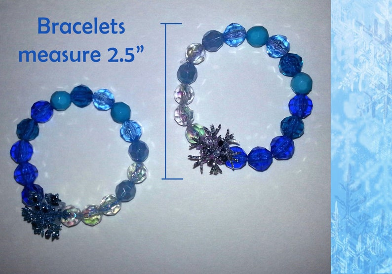 small glass beads bracelet Frozen inspired jewelry pretty gift for 10 years old girl